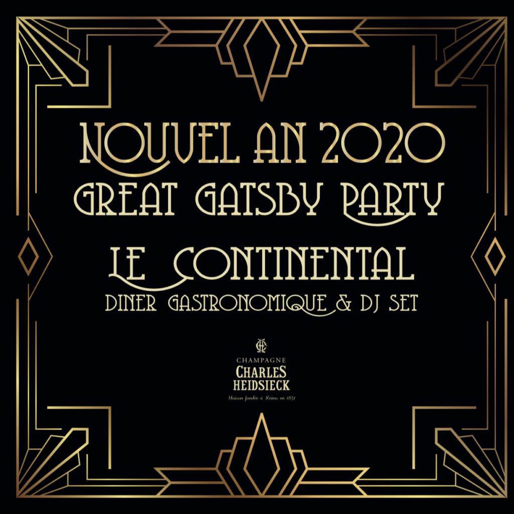 Continental menu Nouvel An 2019/2020 page 1